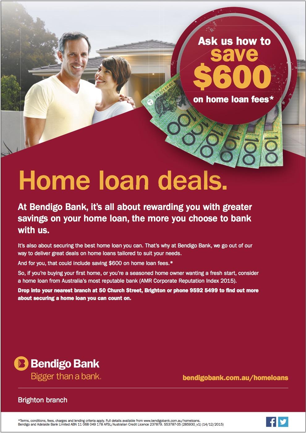 Brighton Cricket Club | Bendigo Bank Home Loan Offer